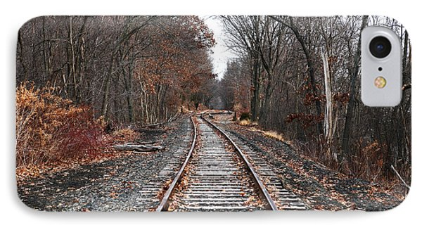 Train Tracks Phone Case by John Rizzuto