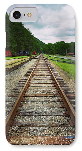 IPhone Case featuring the photograph Train Tracks by Linda Sannuti