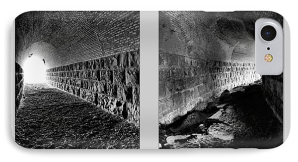Train Tunnel Diptych IPhone Case by Leland D Howard