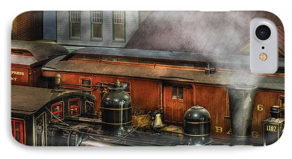 Train - Yard - The Train Yard II Phone Case by Mike Savad