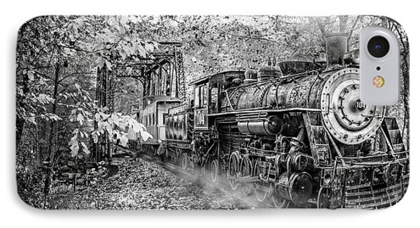 Train's Coming Black And White IPhone Case by Debra and Dave Vanderlaan
