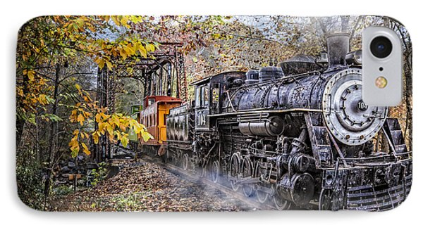 Train's Coming IPhone Case by Debra and Dave Vanderlaan