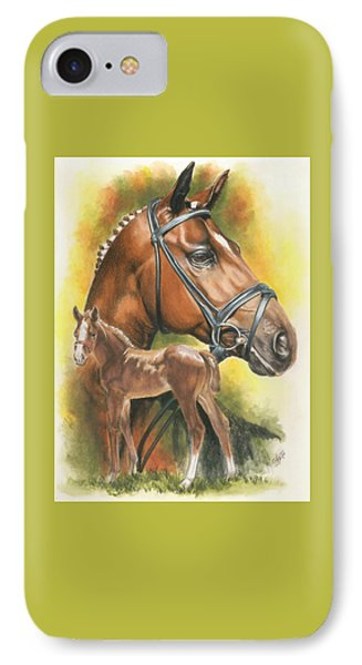 IPhone Case featuring the mixed media Trakehner by Barbara Keith