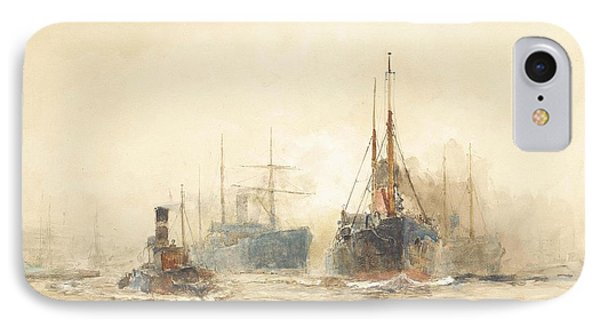 Tramp Steamers In The Thames Estuary IPhone Case
