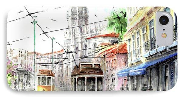 Trams In Belem At Pasteis De Belem Lisbon IPhone Case