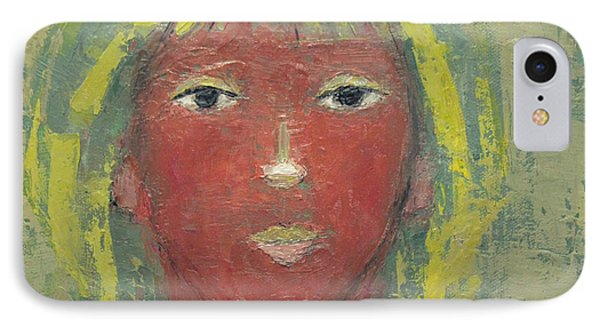 IPhone Case featuring the painting Tranquil Gaze by Becky Kim