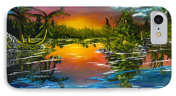 Tranquil Lake IPhone Case by Vincent Keele