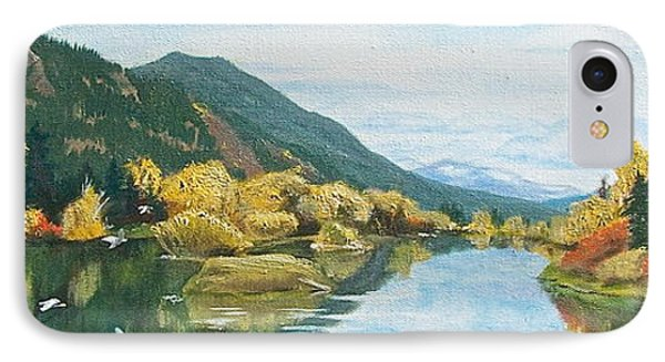 IPhone Case featuring the painting Tranquil Waters by Bonnie Heather