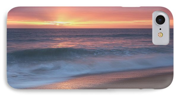 Tranquil Waves At Sunset IPhone Case by Angelo DeVal