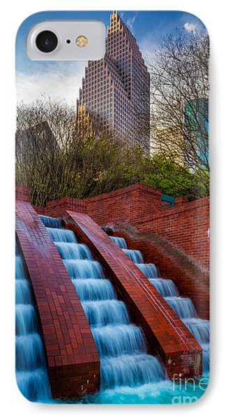 Tranquility Park Fountain IPhone Case