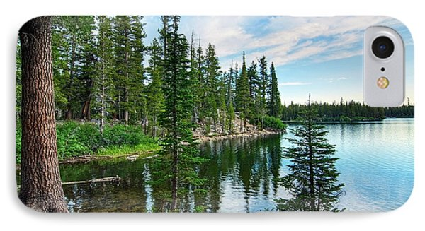 Tree iPhone 7 Case - Tranquility - Twin Lakes In Mammoth Lakes California by Jamie Pham