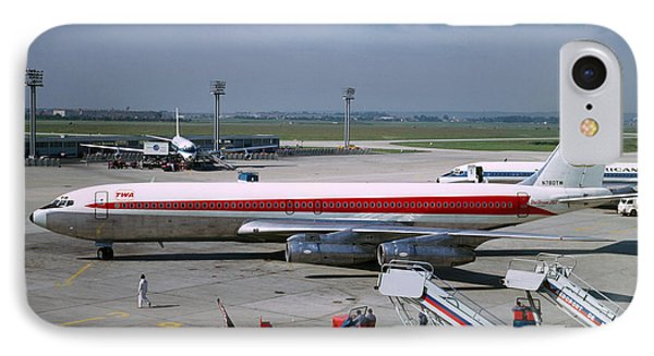 Trans World Airlines Twa Boeing 707 N780tw IPhone Case by Wernher Krutein