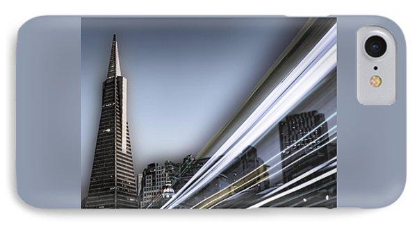 IPhone Case featuring the photograph Transamerica Flash by Steve Siri