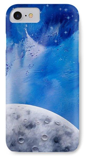 Transcendental Moon Phone Case by Lee Pantas