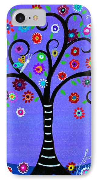 IPhone Case featuring the painting Transformation Tree Of Life by Pristine Cartera Turkus