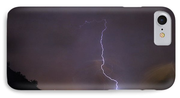 IPhone 7 Case featuring the photograph It's A Hit Transformer Lightning Strike by James BO Insogna