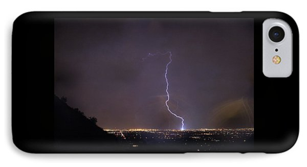 IPhone Case featuring the photograph It's A Hit Transformer Lightning Strike by James BO Insogna