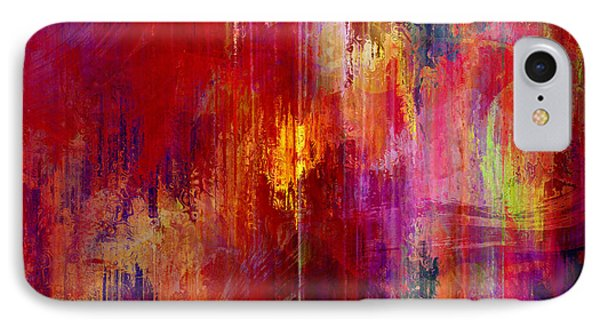 Transition - Abstract Art IPhone Case by Jaison Cianelli
