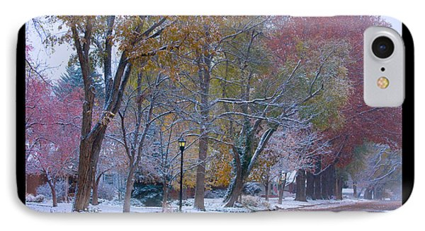 Transitions Autumn To Winter Snow Poster Phone Case by James BO  Insogna