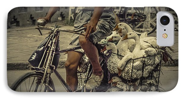 IPhone Case featuring the photograph Transport By Bicycle In China by Heiko Koehrer-Wagner