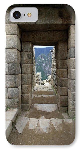 Trapezoidal Door, Machu Picchu, Peru IPhone Case by Aidan Moran