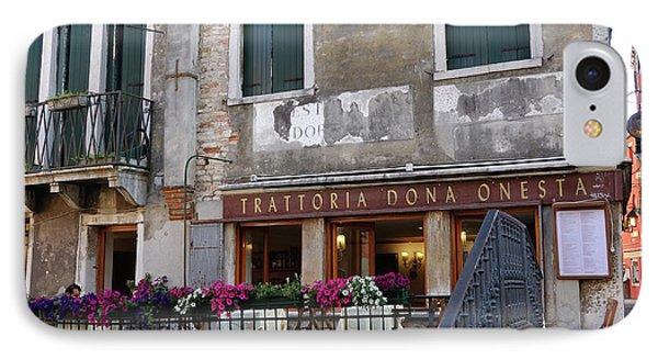 Trattoria Dona Onesta In Venice, Italy IPhone Case
