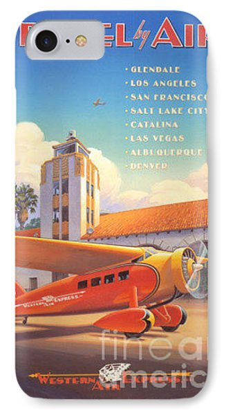 Travel By Air IPhone Case by Nostalgic Prints