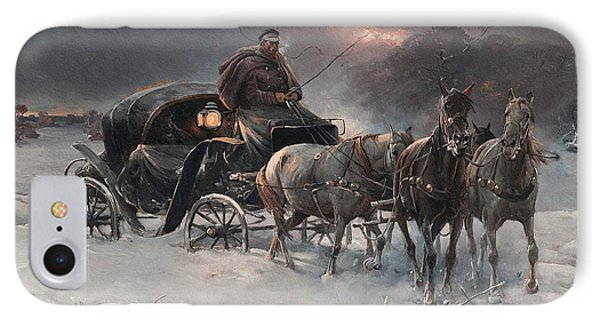 Traveller On A Winter Night IPhone Case
