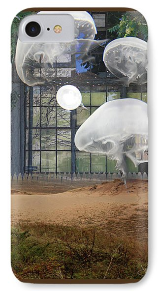 Travels With Jellyfish IPhone Case by Joan Ladendorf