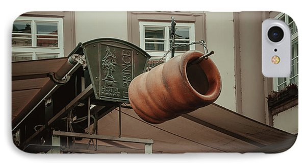 IPhone Case featuring the photograph Trdelnik. Prague Architecture by Jenny Rainbow