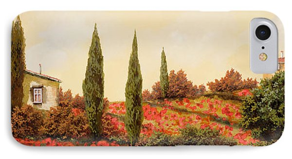 Tre Case Tra I Papaveri Phone Case by Guido Borelli