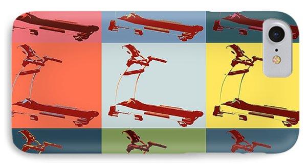Treadmill Pop Art Panels IPhone Case by Dan Sproul