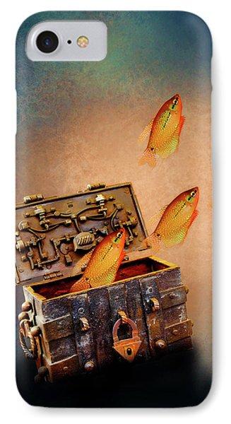 Treasure Chest Phone Case by KaFra Art