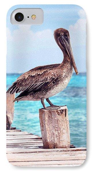 Treasure Coast Pelican Pier Seascape C1 Phone Case by Ricardos Creations