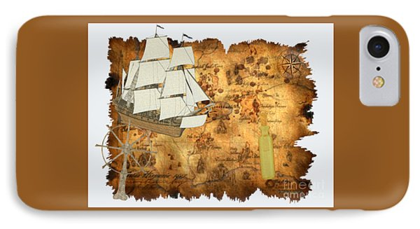 Treasure Map IPhone Case by Corey Ford