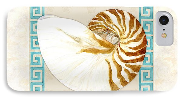 Treasures From The Sea - Tiger Nautilus Shell IPhone Case by Audrey Jeanne Roberts