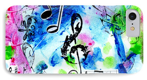 IPhone Case featuring the mixed media Treble Mp by Genevieve Esson