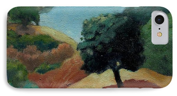 IPhone Case featuring the painting Tree Alone by Gary Coleman