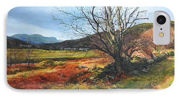 Tree At Aberglaslyn Phone Case by Harry Robertson