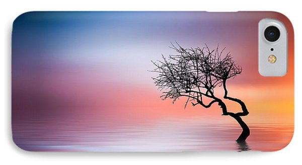 Tree At Lake IPhone Case by Bess Hamiti