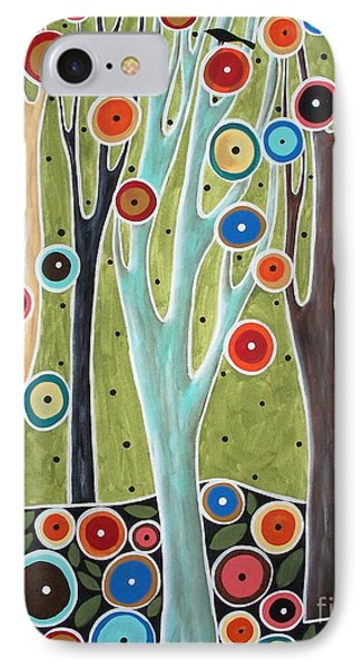 Tree Blooms And Birds Phone Case by Karla Gerard