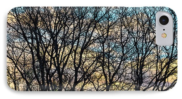 IPhone Case featuring the photograph Tree Branches And Colorful Clouds by James BO Insogna