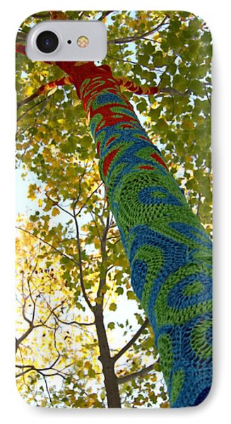 Tree Crochet IPhone Case by  Newwwman