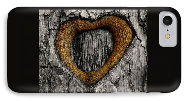 Tree Graffiti Heart IPhone Case by Chris Berry