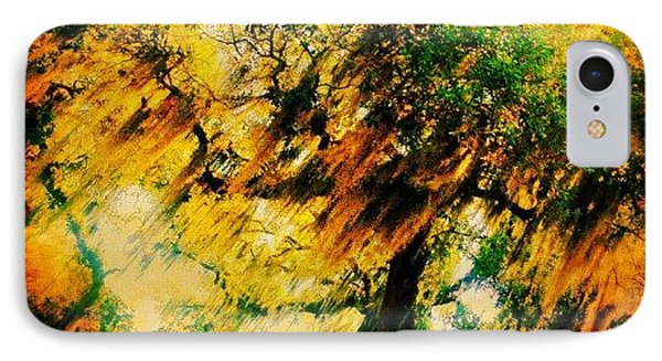 #tree #green #yellow #colourful #sc IPhone Case by Katie Williams
