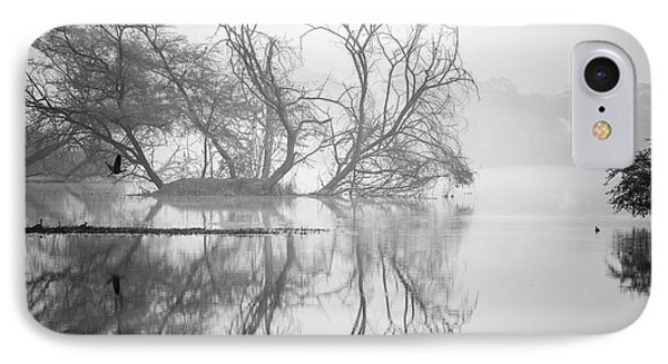 Tree In A Lake IPhone Case by Pravine Chester
