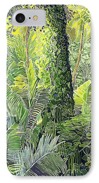 Tree In Garden Phone Case by Fay Biegun - Printscapes