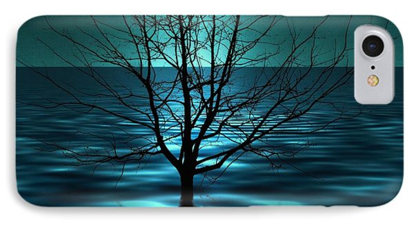 Tree In Ocean IPhone Case by Marianna Mills