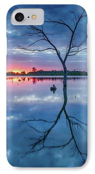 Tree In Silhouette Phone Case by Jae Mishra