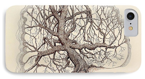 Tree In Winter II IPhone Case by Kerry Beverly